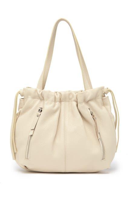 Image of Renata Corsi Leather Drawstring Shoulder Bag