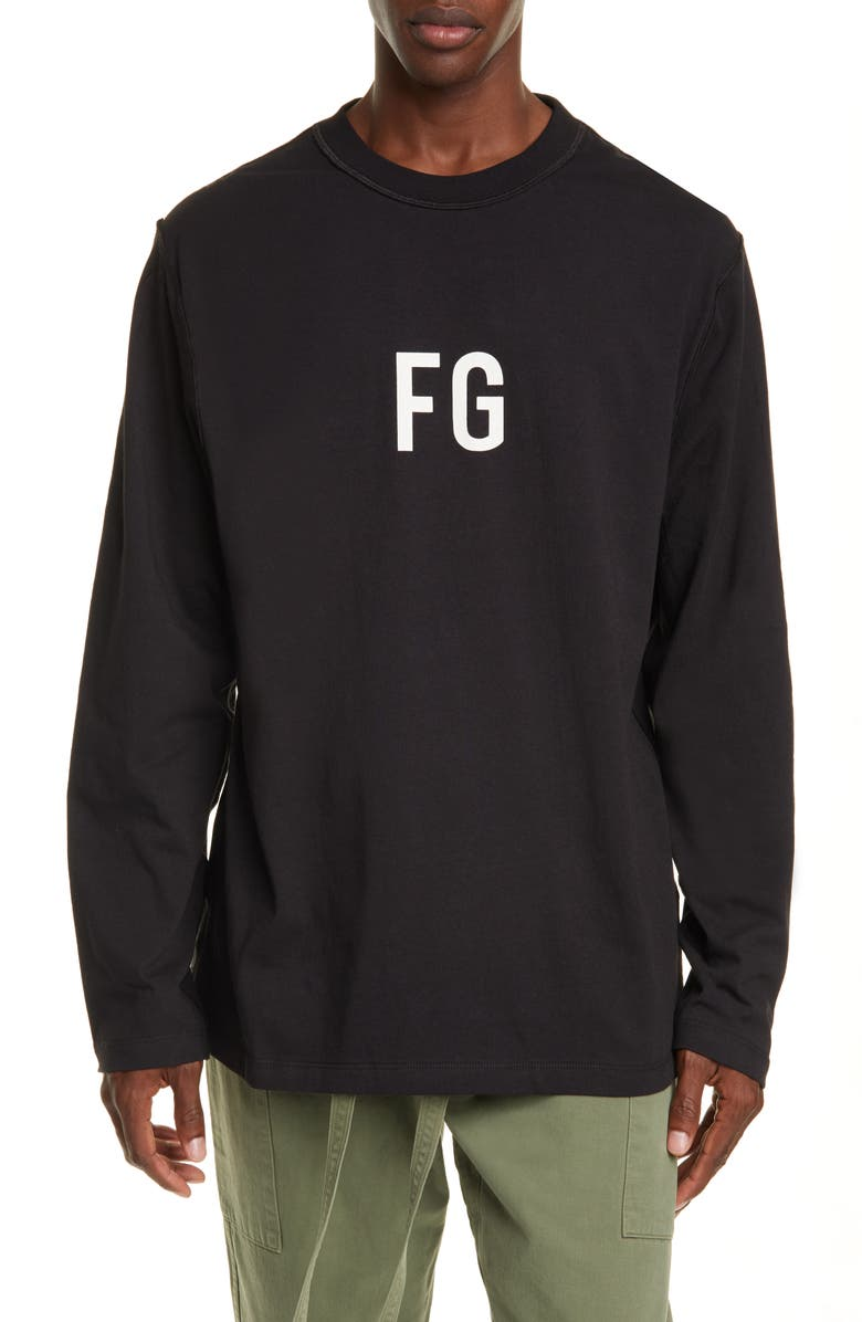 FEAR OF GOD FG Long Sleeve T-Shirt, Main, color, VINTAGE BLACK