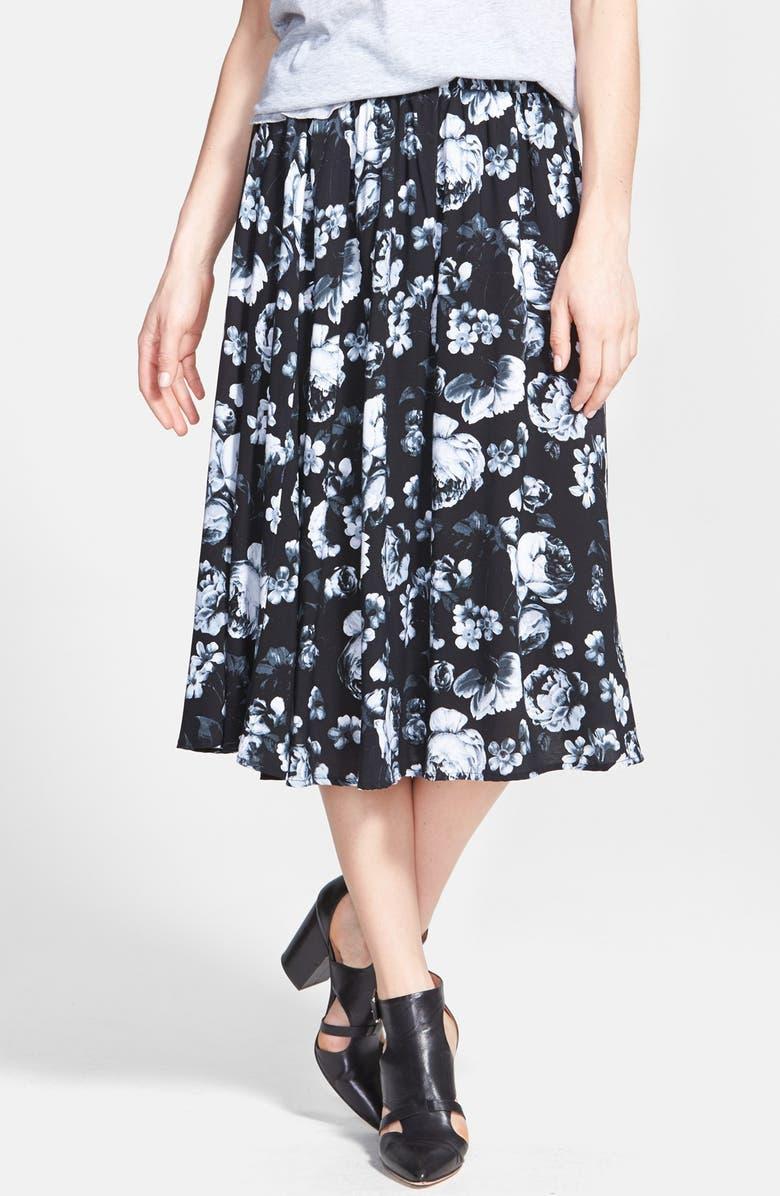 TILDON Floral Midi Skirt, Main, color, 001