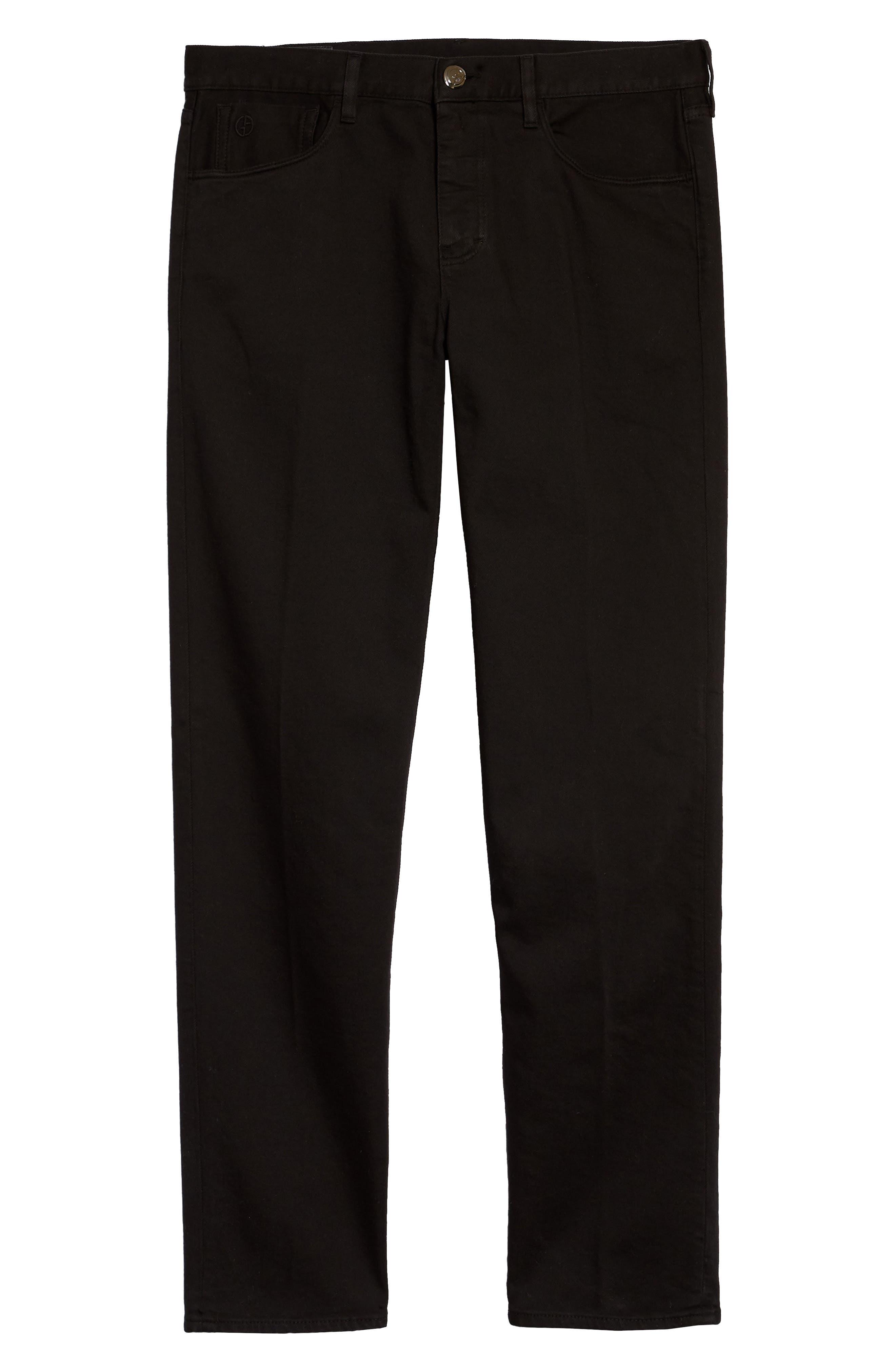 Men's Giorgio Armani Slim Fit Garbardine Jeans,  32R EU - Black