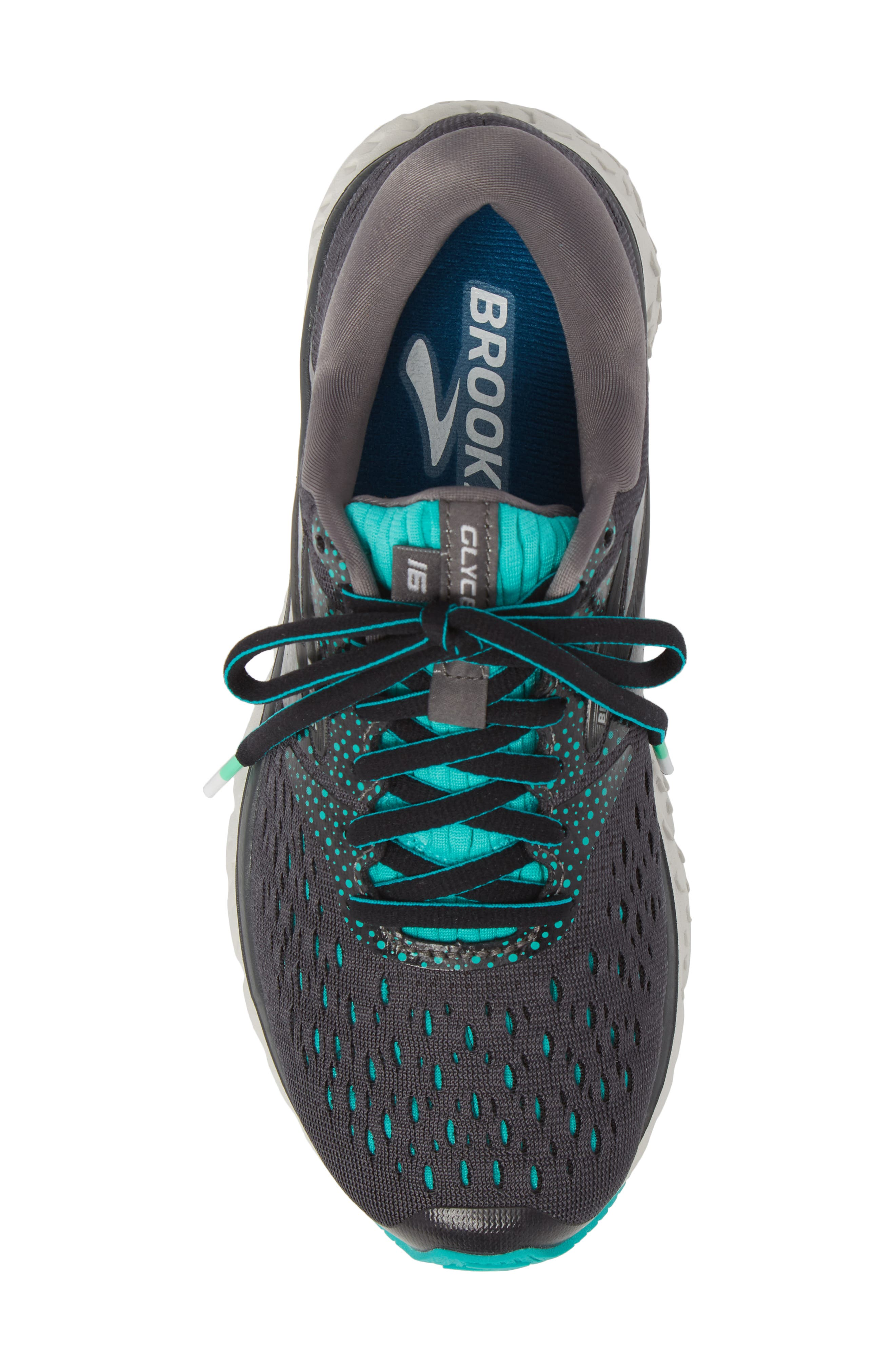 ,                             Glycerin 16 Running Shoe,                             Alternate thumbnail 5, color,                             EBONY/ GREEN/ BLACK