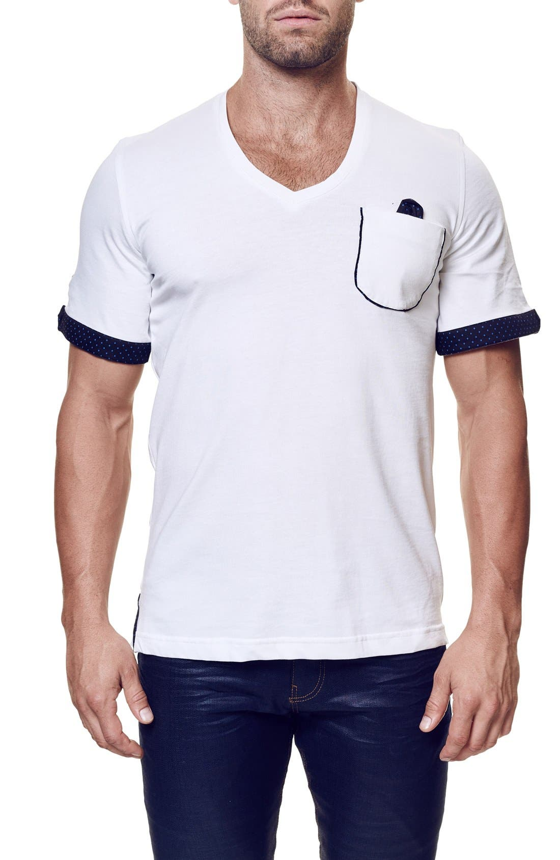 Image of Maceoo V-Neck Contemporary Fit Tee