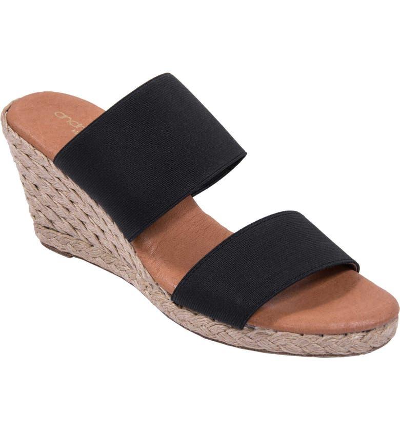 847028600ac Amalia Strappy Espadrille Wedge Slide Sandal