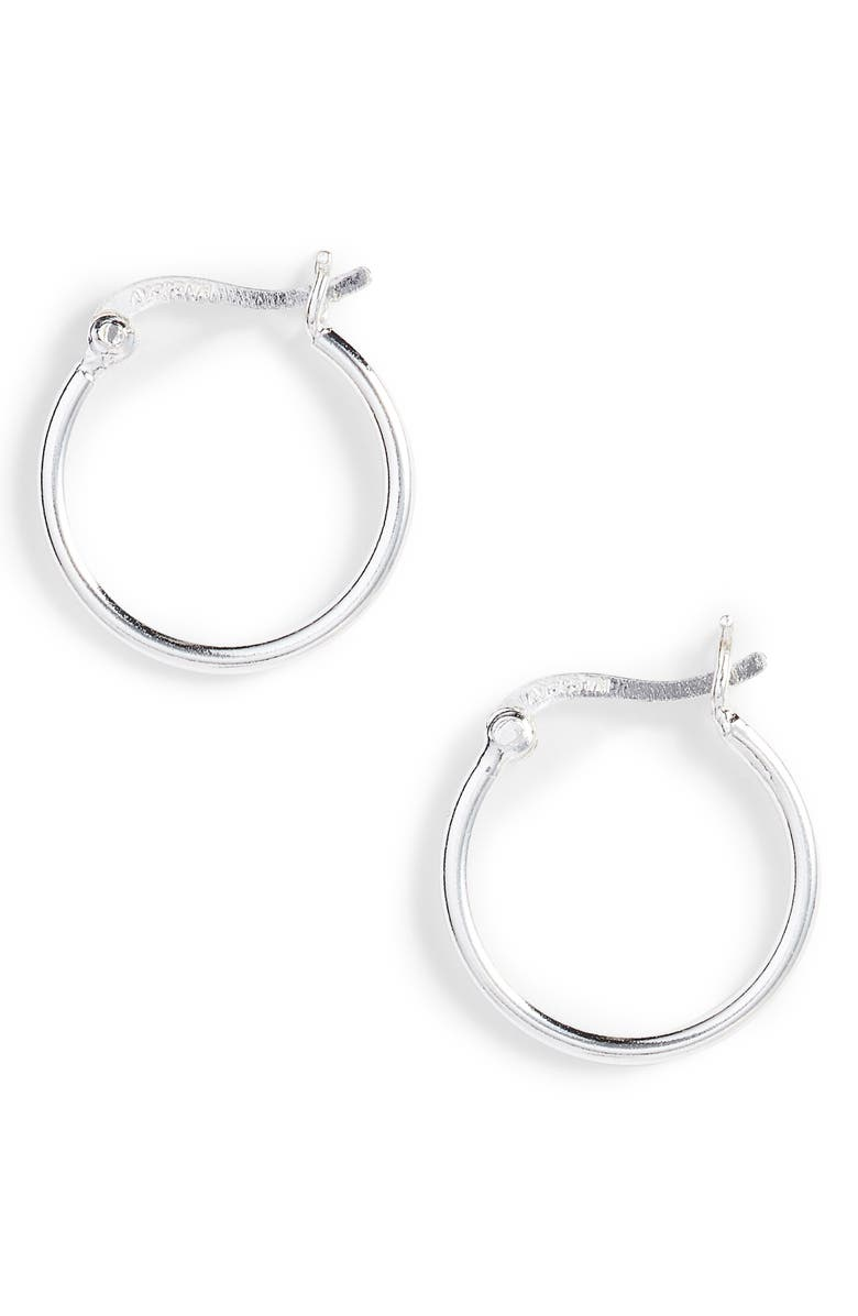 ARGENTO VIVO Hoop Earrings, Main, color, SILVER