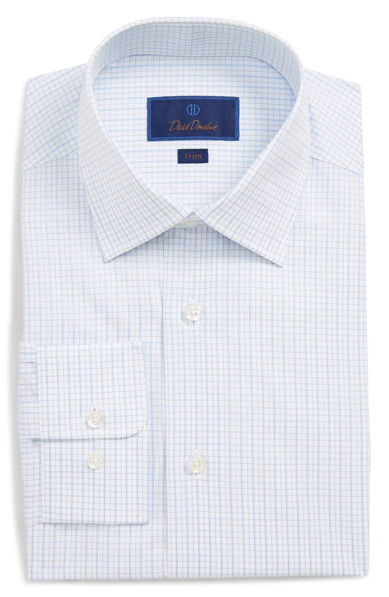 DAVID DONAHUE Trim Fit Check Dress Shirt, Main, color, 423