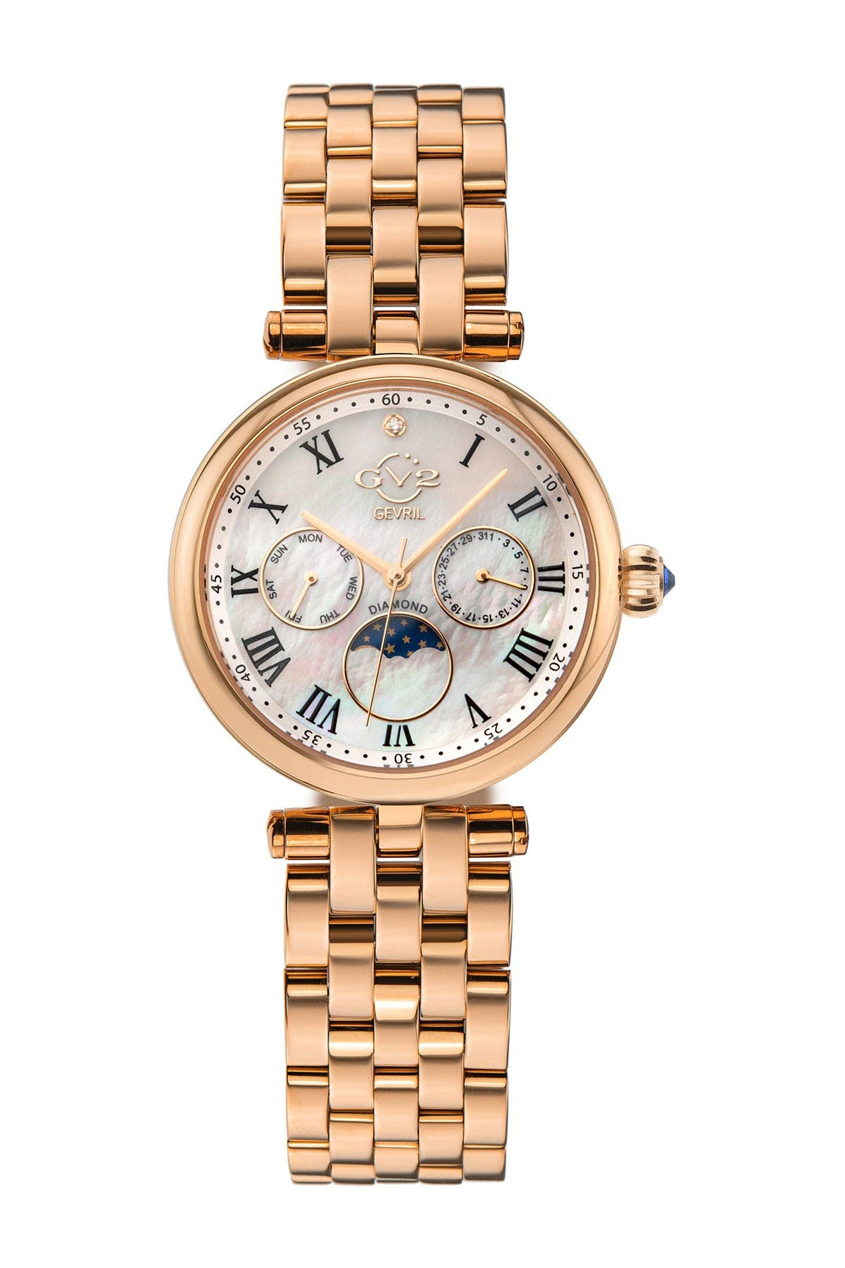 Image of Gevril Women's Florence Mother of Pearl Diamond Bracelet Watch, 36mm - 0.005 ctw