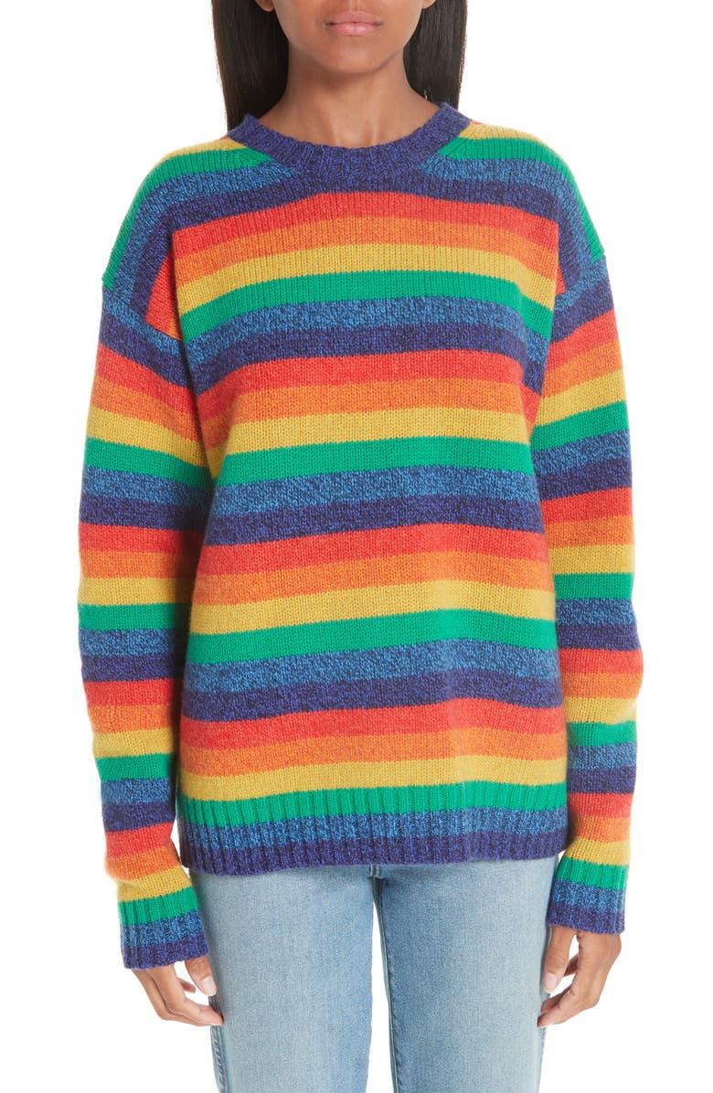 ACNE STUDIOS Rainbow Sweater, Main, color, 950