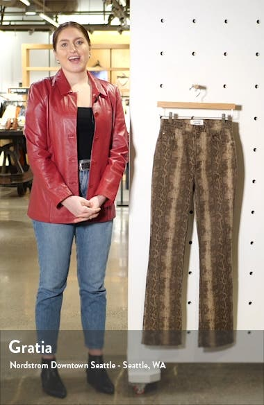 Cindy Snake Print High Waist Bootcut Jeans, sales video thumbnail
