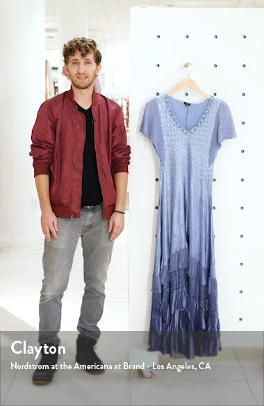 Charmeuse & Chiffon Maxi Dress, sales video thumbnail