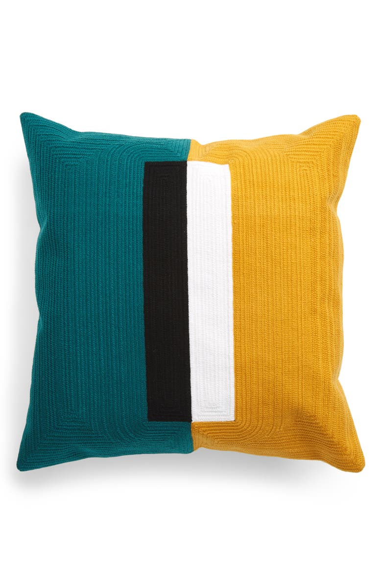 DUSEN DUSEN Block Pillow Cover, Main, color, 800