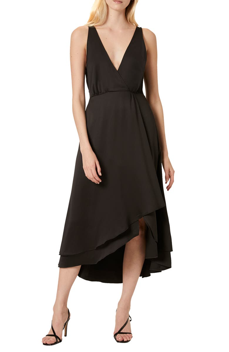 FRENCH CONNECTION Alessia Sleeveless Midi Dress, Main, color, BLACK