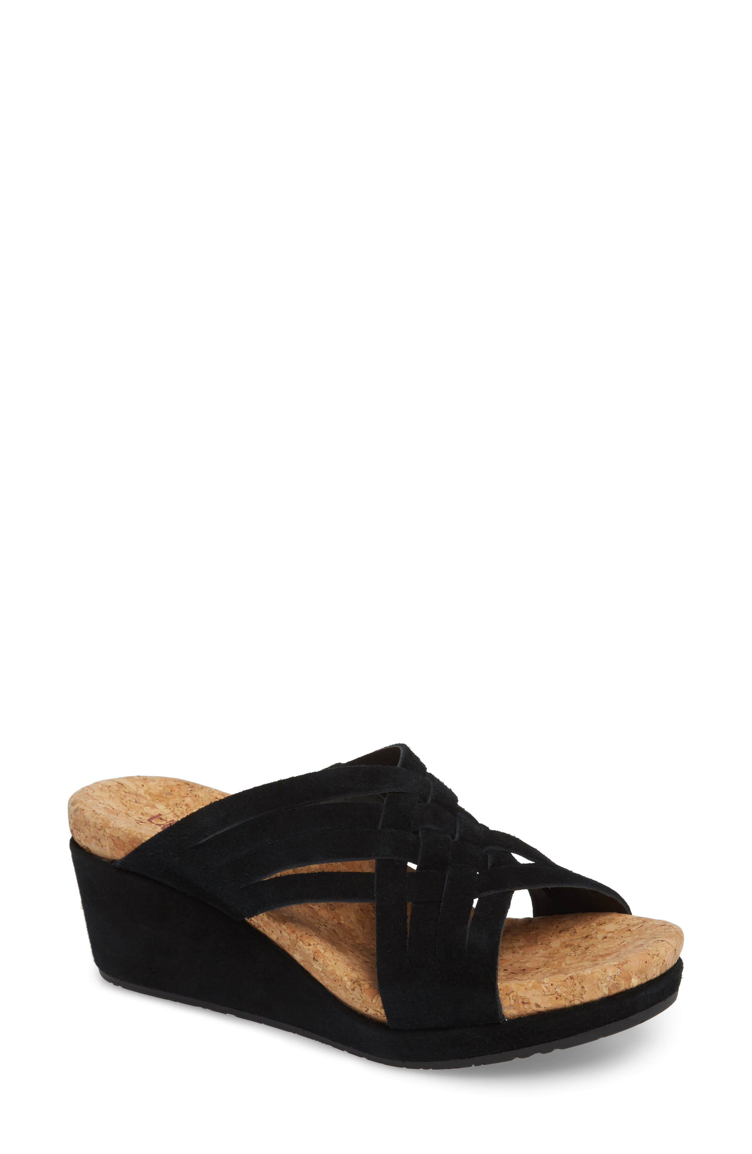 UGG | Lilah Strappy Suede Wedge