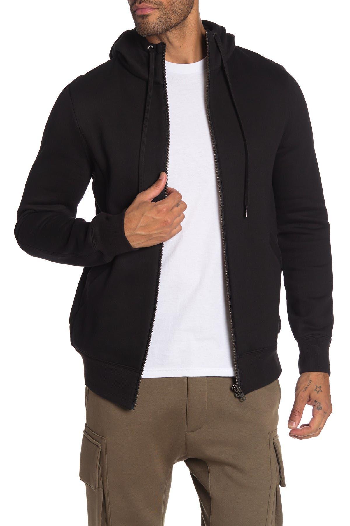 Image of Helmut Lang Long Sleeve Zip Front Hoodie