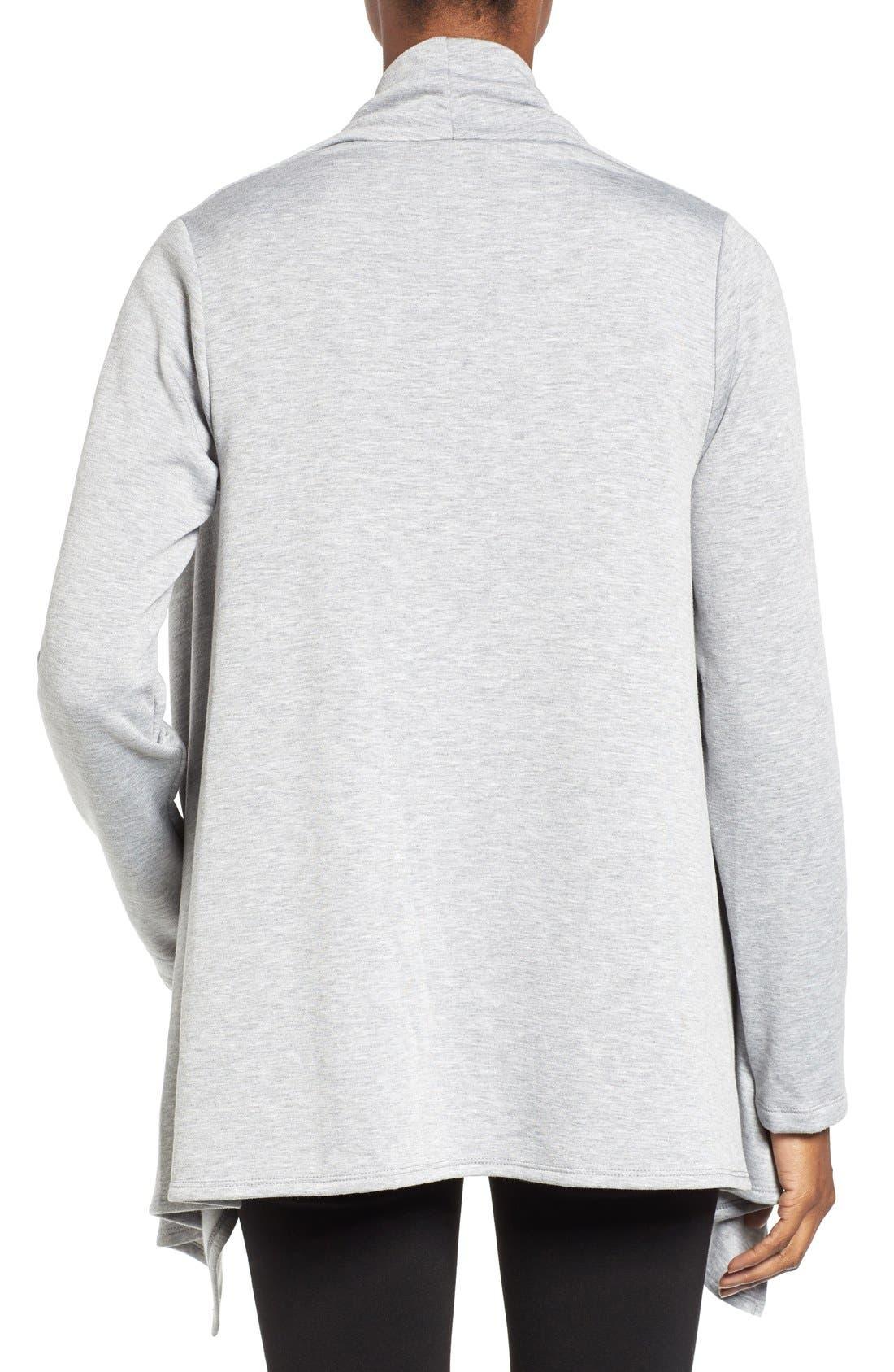 ,                             One-Button Fleece Wrap Cardigan,                             Alternate thumbnail 50, color,                             030