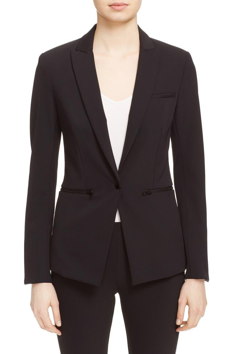 VERONICA BEARD Scuba Jacket, Main, color, BLACK