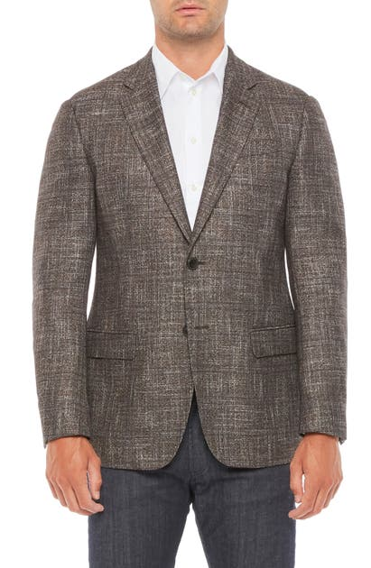 EMPORIO ARMANI TEXTURED WOOL BLEND SPORT COAT