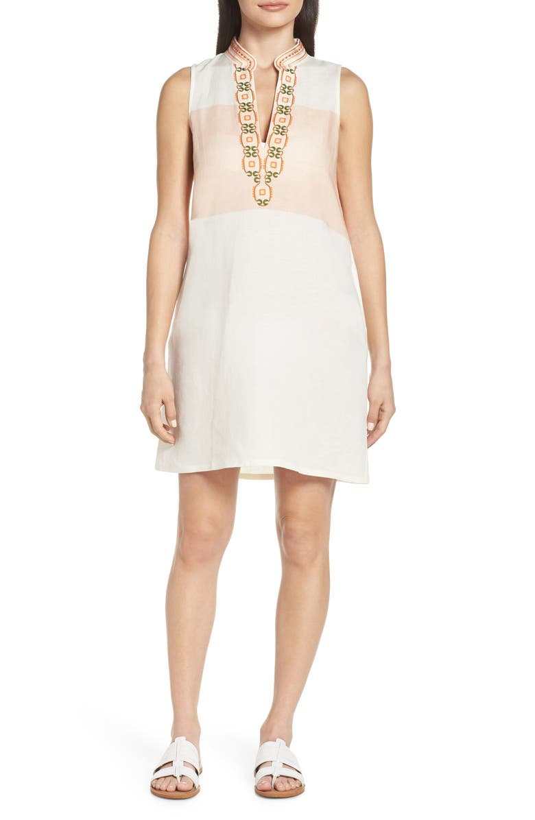 TORY BURCH Embroidered Beach Cover-Up Dress, Main, color, 900