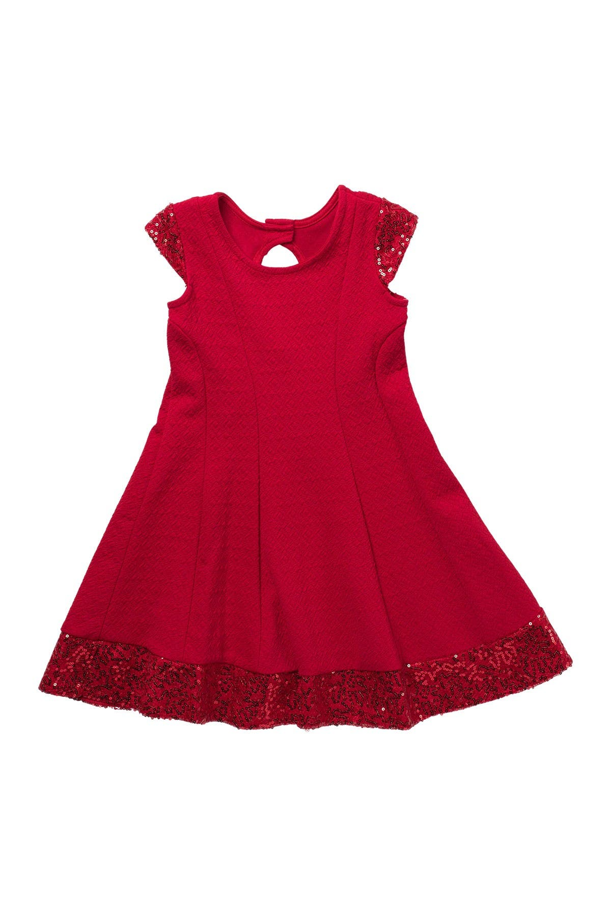 Image of GERSON & GERSON Sequin Knit Skater Dress