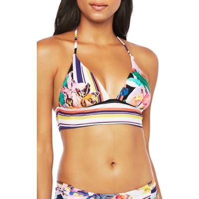 Trina Turk Treasure Cove Banded Bikini Top, White