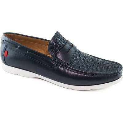 Marc Joseph New York Thompson Street Penny Loafer, Blue