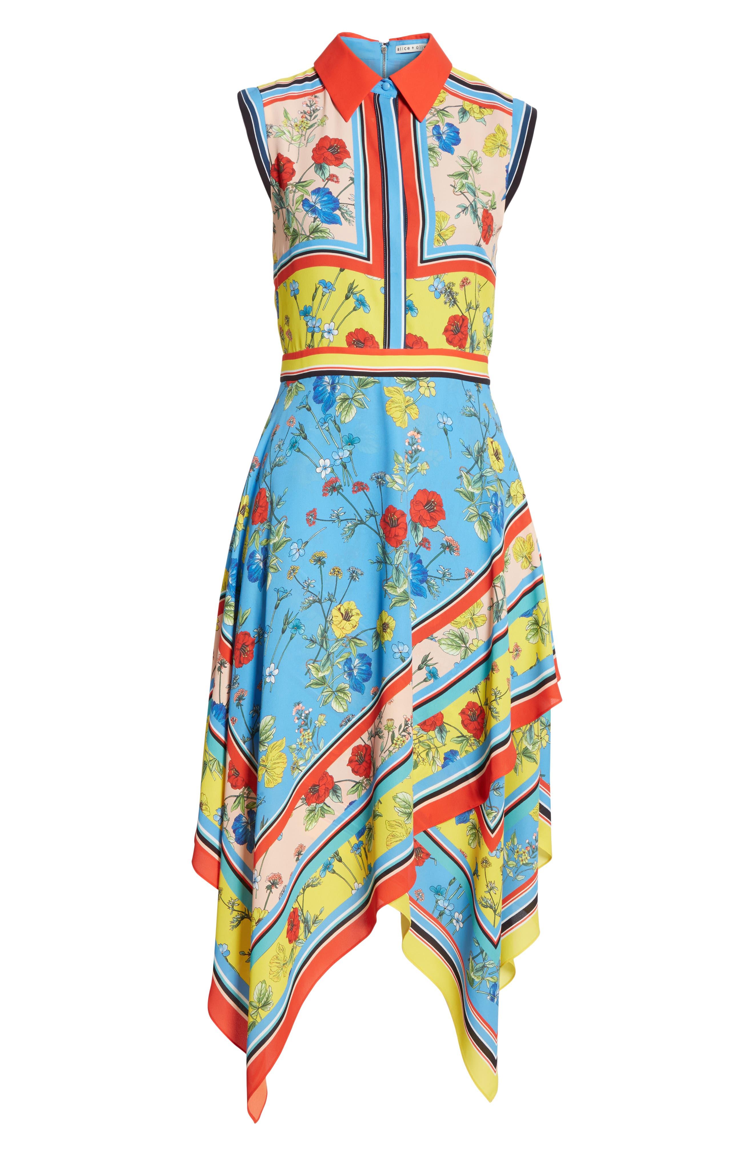 ,                             Farrah Handkerchief Dress,                             Alternate thumbnail 6, color,                             499