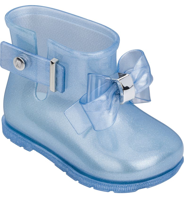 MINI MELISSA Mini Sugar Glitter Rain Boot, Main, color, BLUE