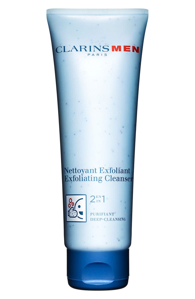 CLARINS Men Exfoliating Cleanser, Main, color, NO COLOR