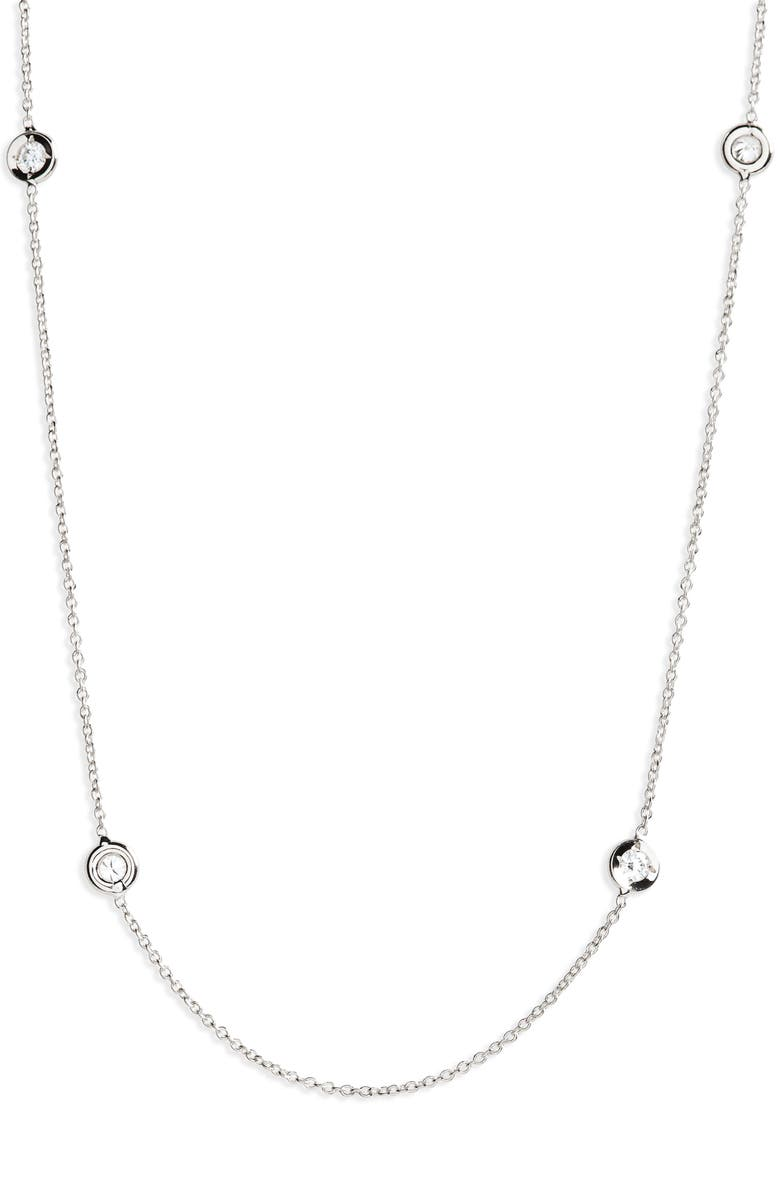 ROBERTO COIN Diamond Seven Station Necklace, Main, color, D0.35 GHSI 18KWG