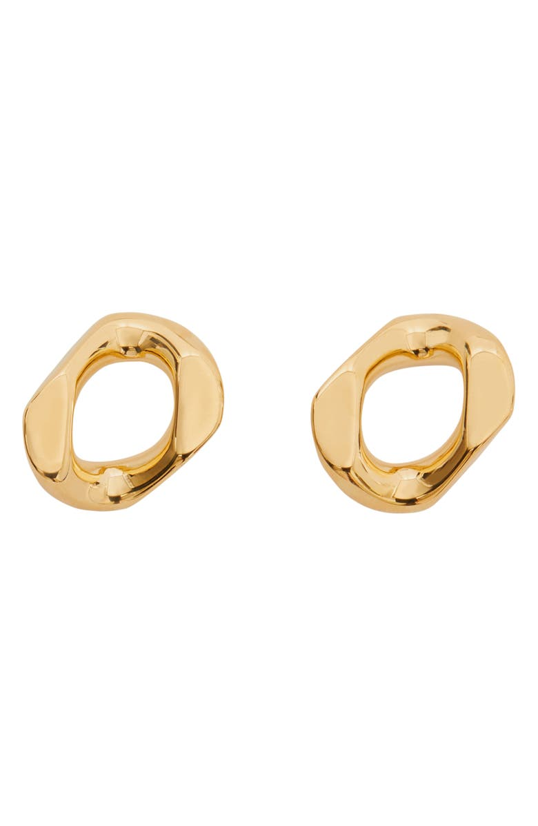 BURBERRY Chain Link Stud Earrings, Main, color, 701