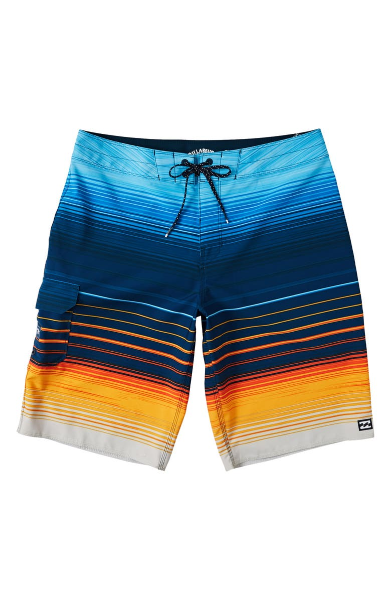 BILLABONG All Day Stripe Pro Board Shorts, Main, color, 411
