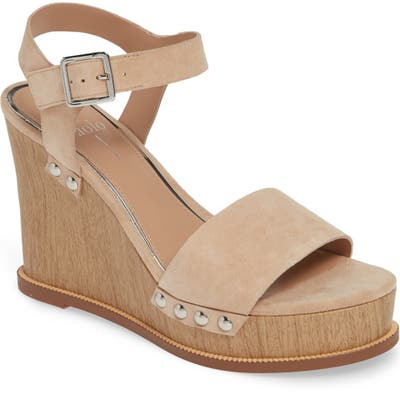 Linea Paolo Ellis High Wedge Sandal- Beige
