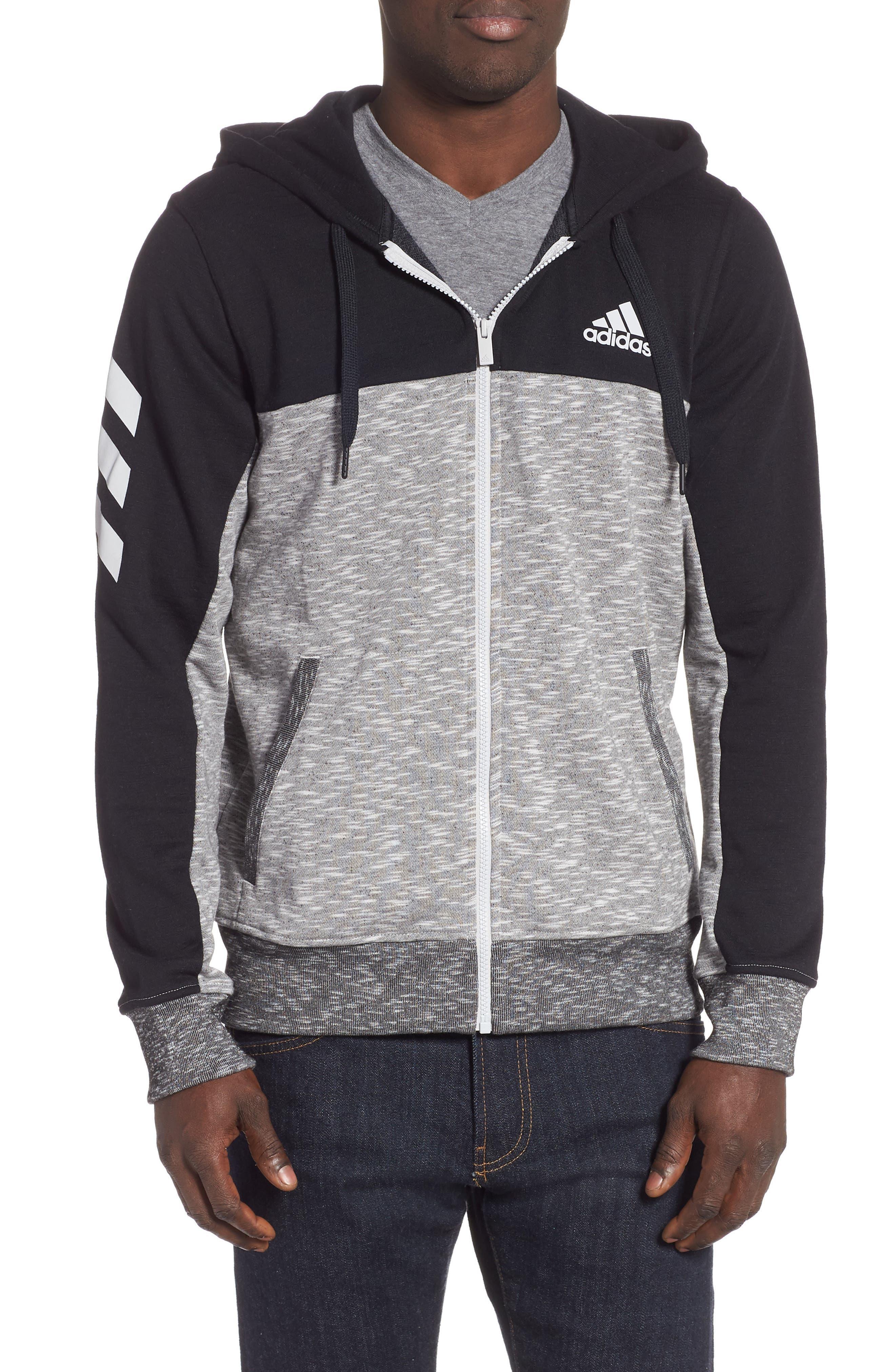 Adidas Pick Up Colorblock Zip Hoodie, Black
