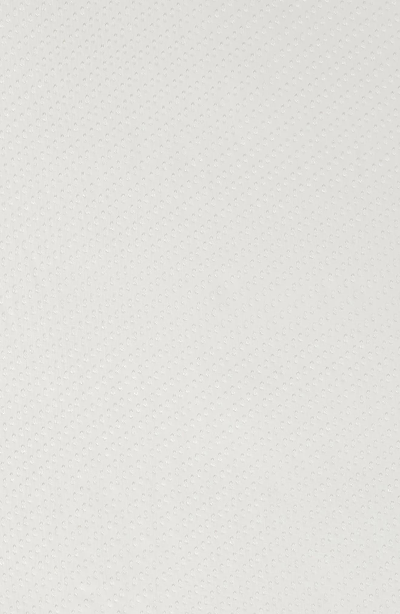 ,                             Swiss Dot Square Silk Blend Scarf,                             Alternate thumbnail 4, color,                             WHITE