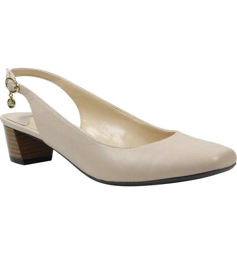 J. RENEÉ Blandi Slingback Pump, Main, color, BEIGE LEATHER