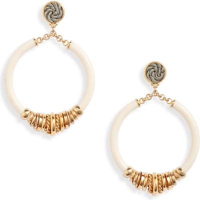 Gas Bijoux Mariza Hoop Drop Earrings