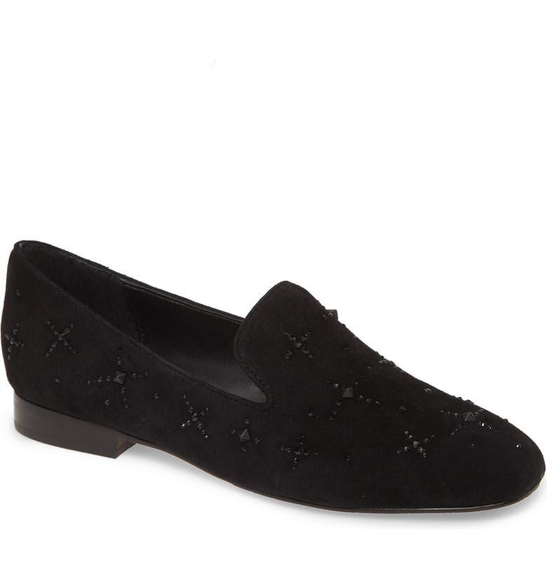 DONALD PLINER Luxx Loafer, Main, color, BLACK SUEDE