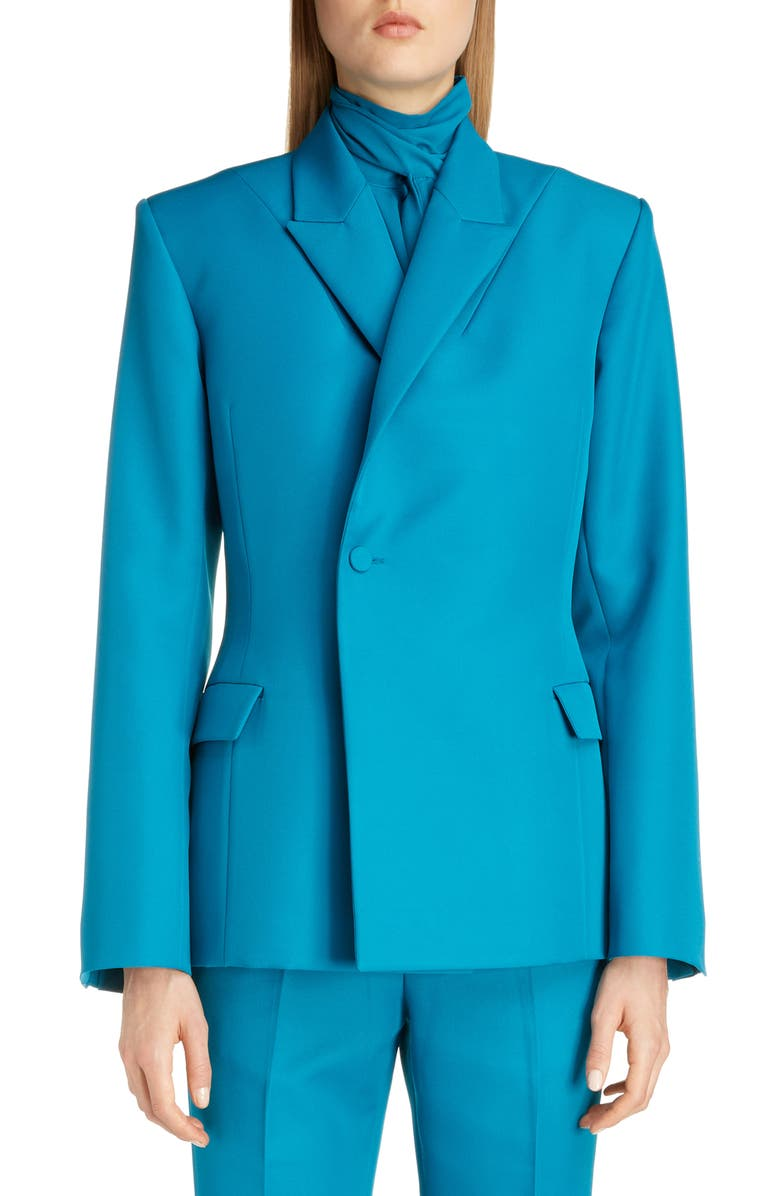 BALENCIAGA Tech Twill Blazer, Main, color, 400