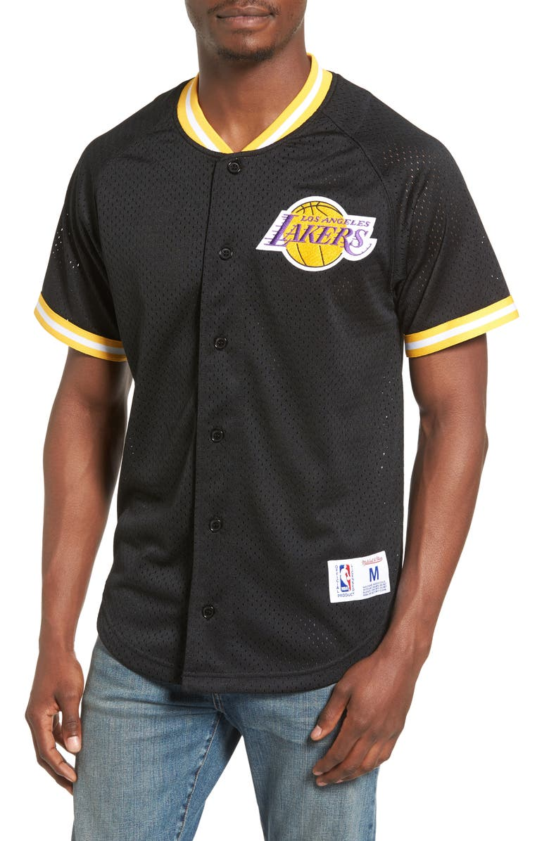 170485c0 Mitchell & Ness NBA Seasoned Pro - Los Angeles Lakers Mesh Shirt ...