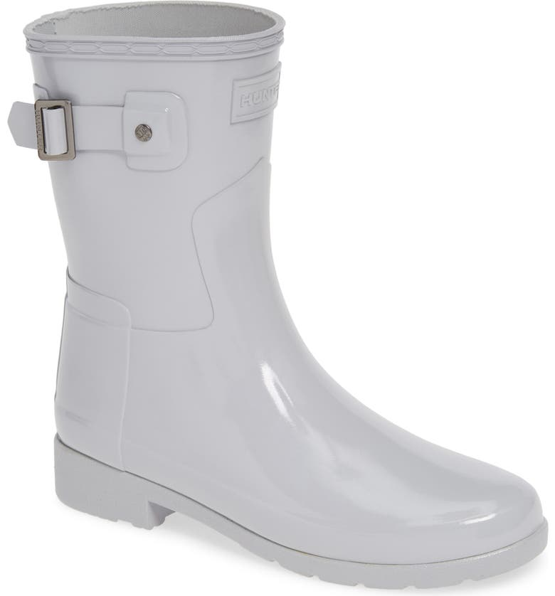 HUNTER Refined Short Gloss Rain Boot, Main, color, SYMBOL
