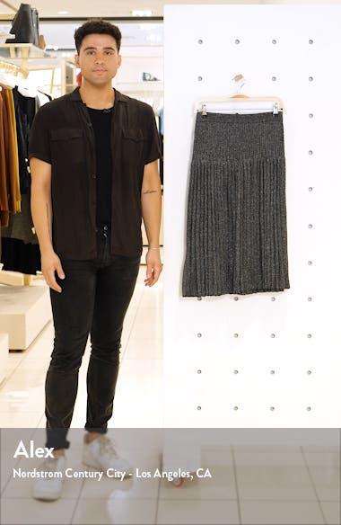 Pleated Knit Midi Skirt, sales video thumbnail