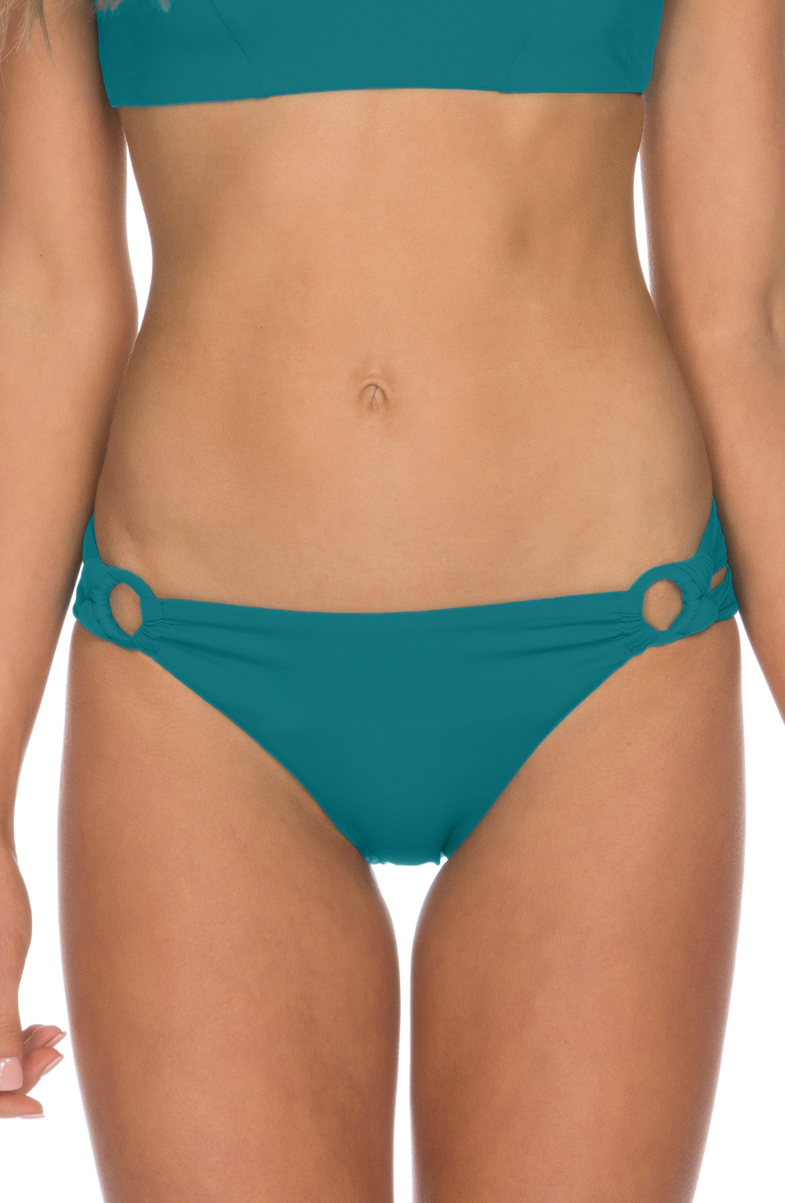 Isabella Rose Pebbly Beach Bikini Bottoms, Blue/green