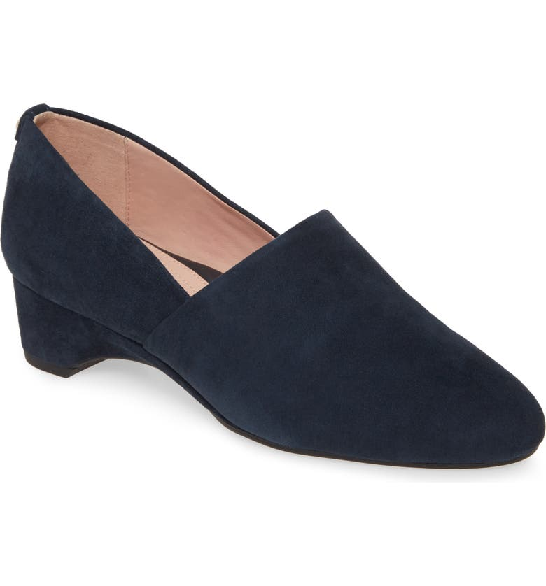 TARYN ROSE Brenda Wedge Pump, Main, color, MIDNIGHT SUEDE