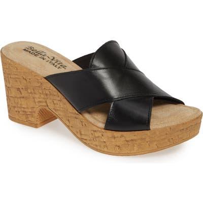Bella Vita Platform Sandal WW - Black
