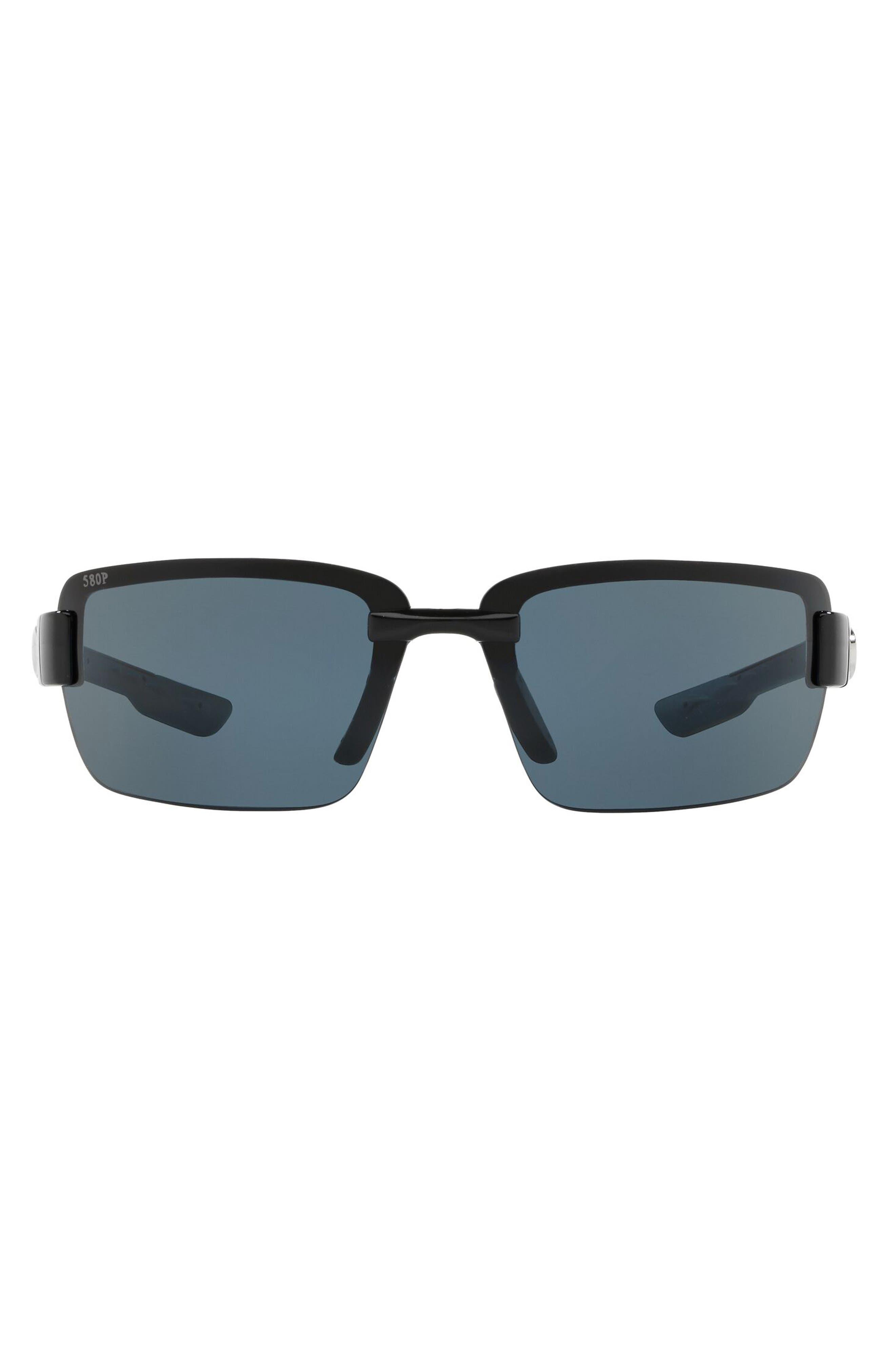 67mm Polarized Oversize Wraparound Sunglasses