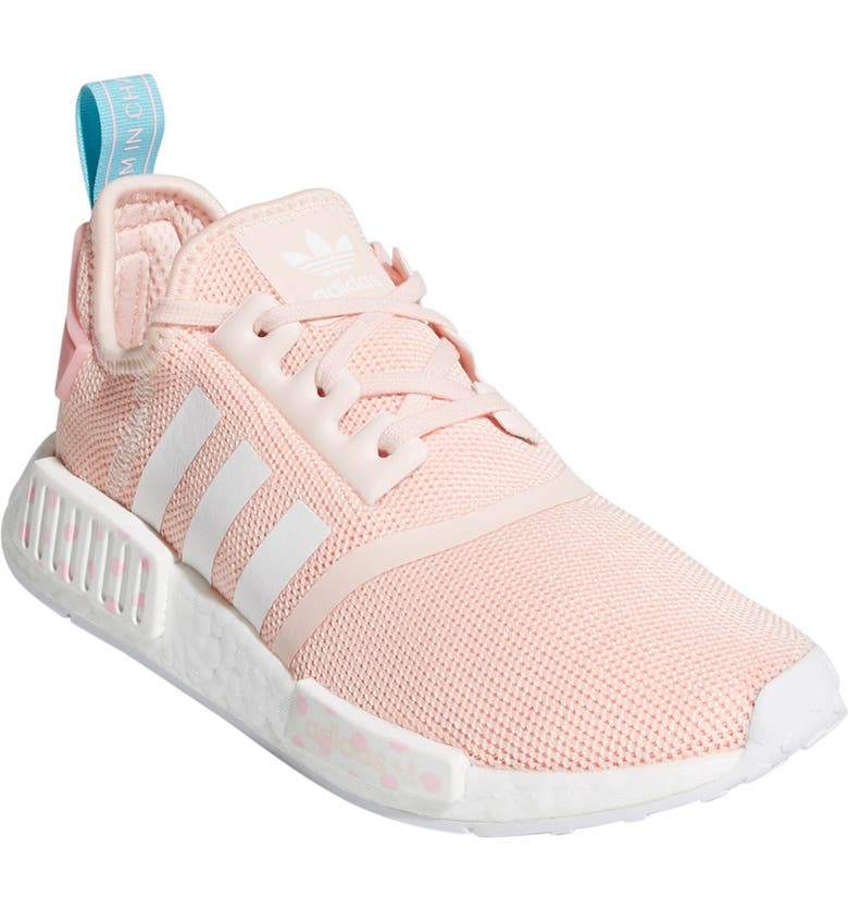 ADIDAS NMD_R1 Sneaker, Main, color, ICEPNK/FTW