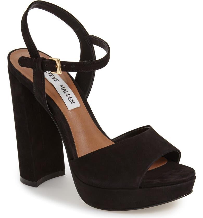 STEVE MADDEN 'Kierra' Platform Sandal, Main, color, 005