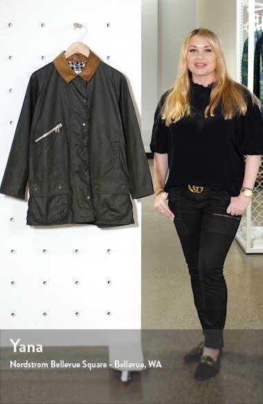 x ALEXACHUNG Edith Weatherproof Waxed Cotton Jacket, sales video thumbnail