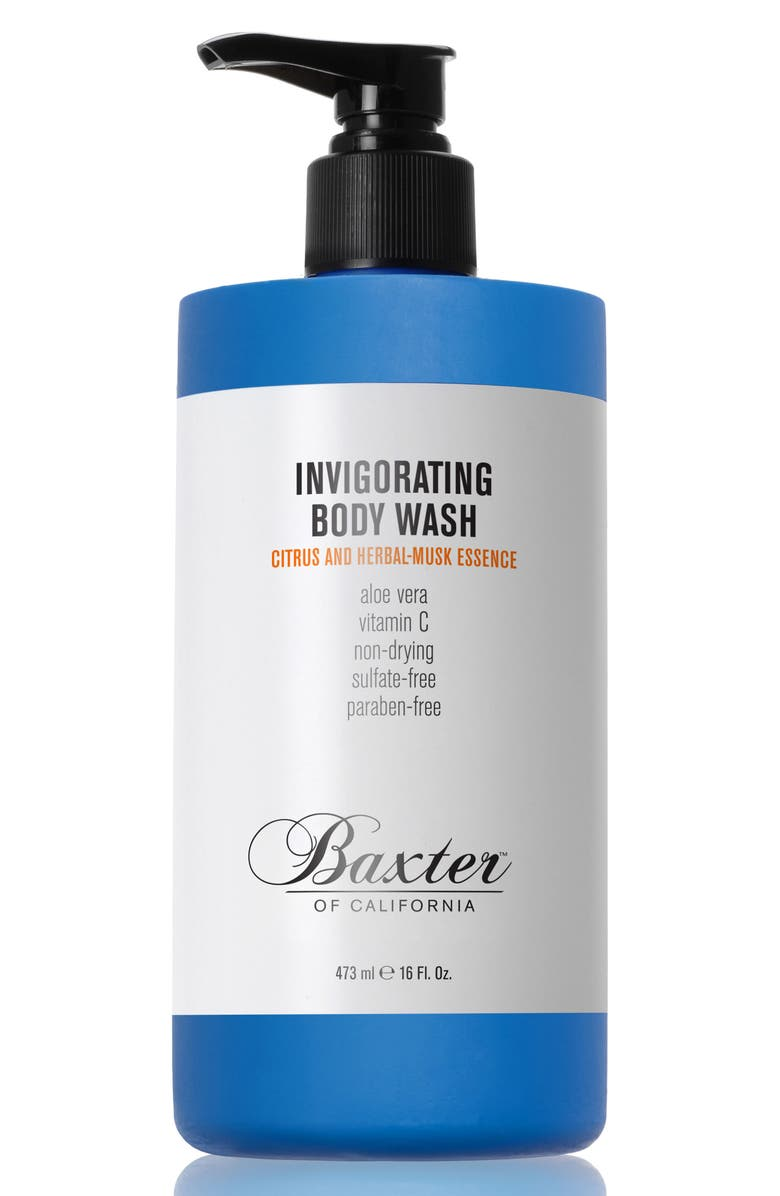 BAXTER OF CALIFORNIA Citrus and Herbal Musk Invigorating Body Wash, Main, color, NO COLOR
