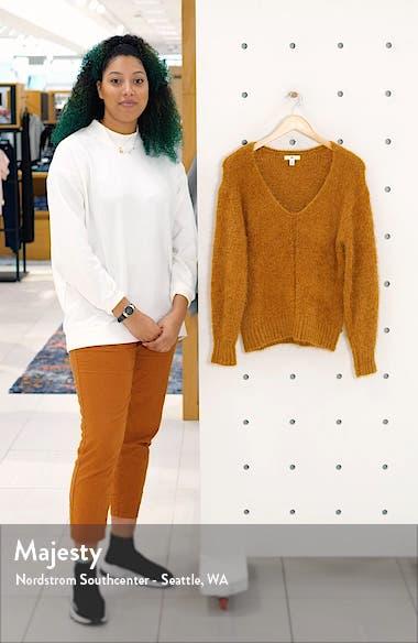 V-Neck Eyelash Chenille Sweater, sales video thumbnail