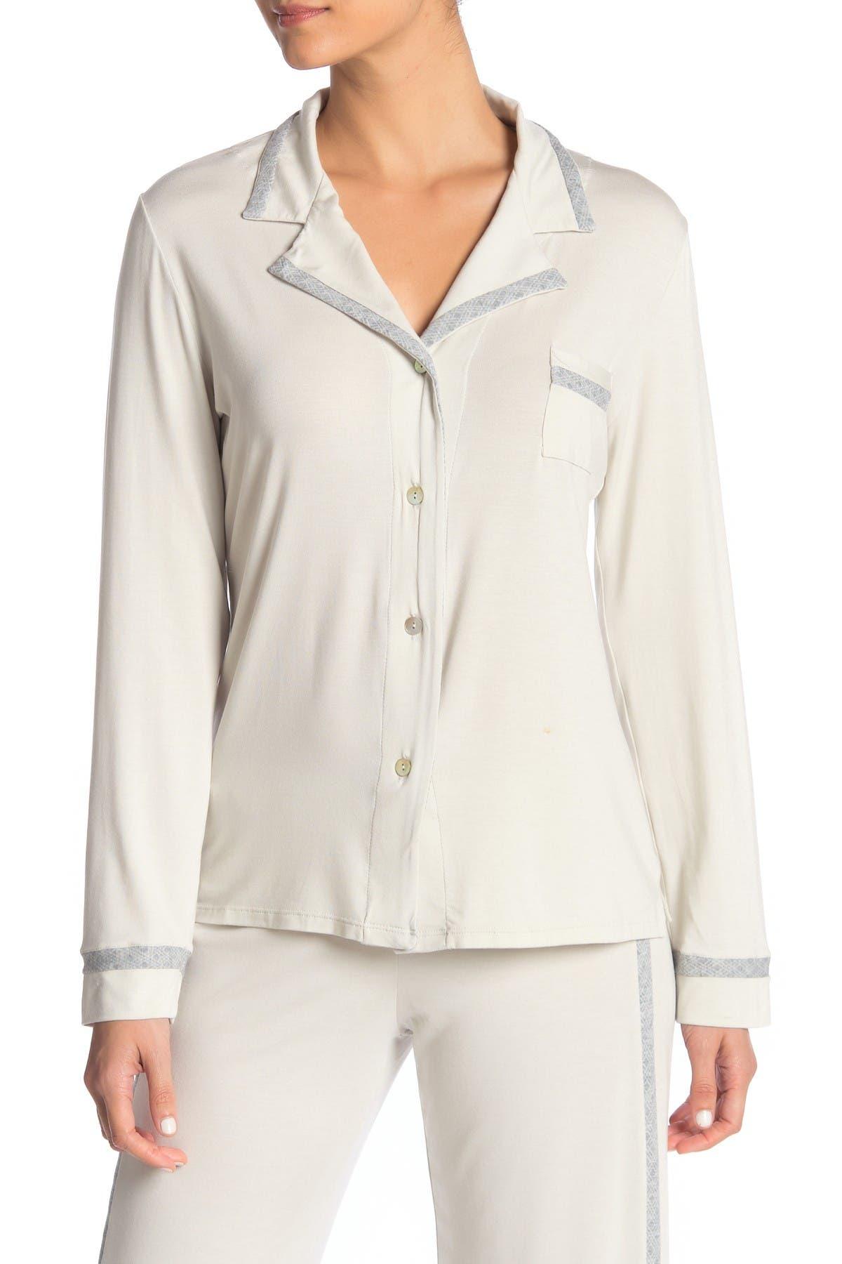 Image of Cosabella Hustle Notch Collar Pajama Top